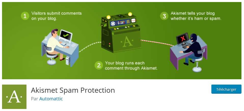 akismet : plugins gratuits wordpress