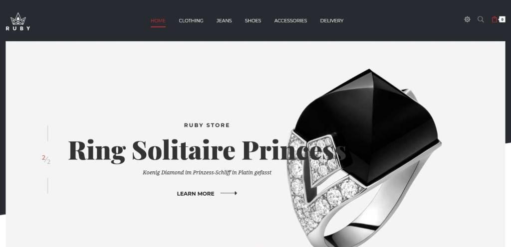 ruby : thèmes prestashop pour site de bijoux