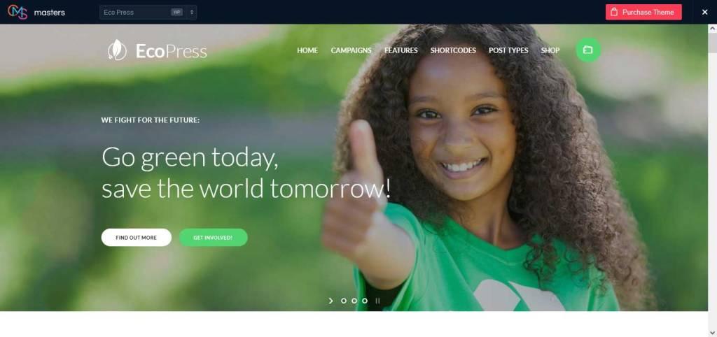 ecopress : thèmes wordpress pour site d'association