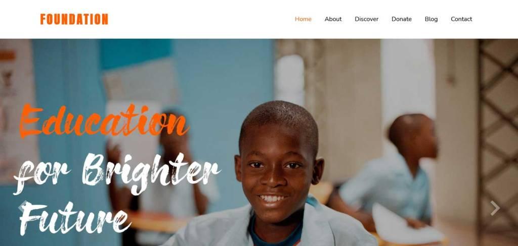 foundation : thèmes gratuits pour site d'association