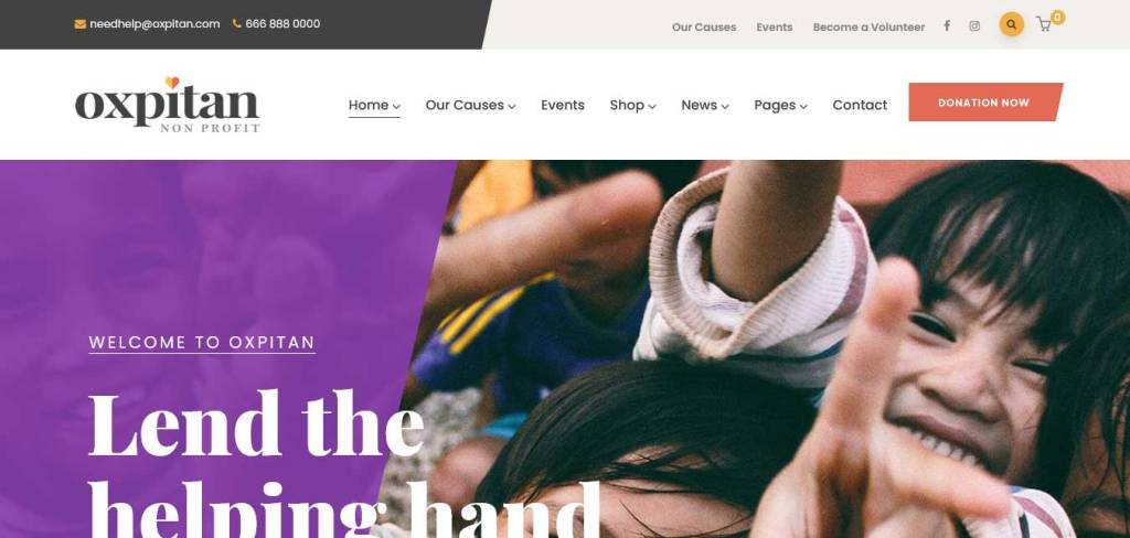 oxpitan : thèmes wordpress pour site d'association