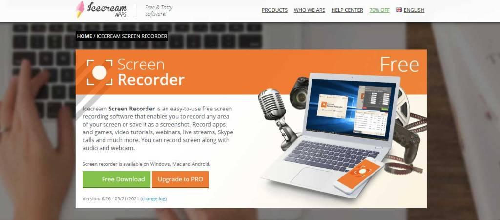 icecreamapps : applications pour enregistrer l'ecran de votre ordinateur