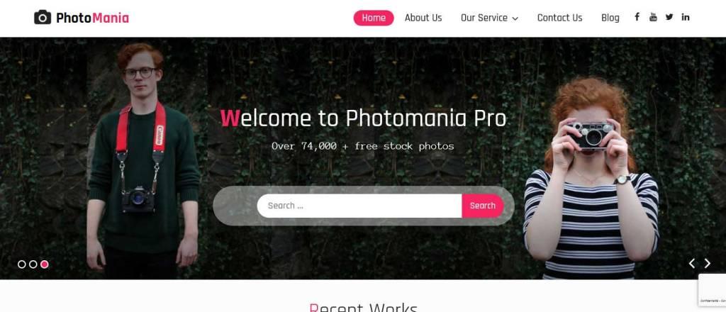 photomania : thèmes wordpress gratuits pour photographes