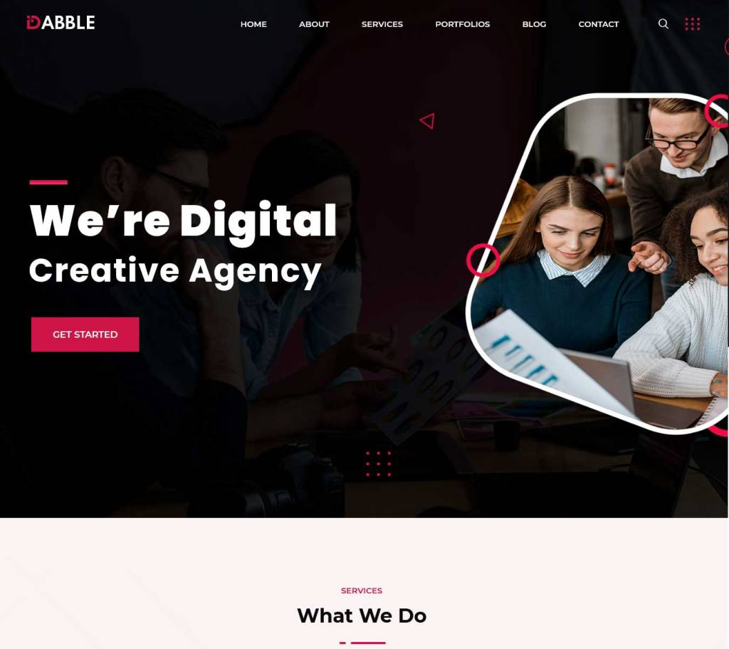 dabble : thèmes wordpress pour agence web