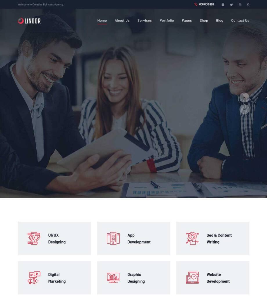 linoor : thèmes wordpress pour agence web