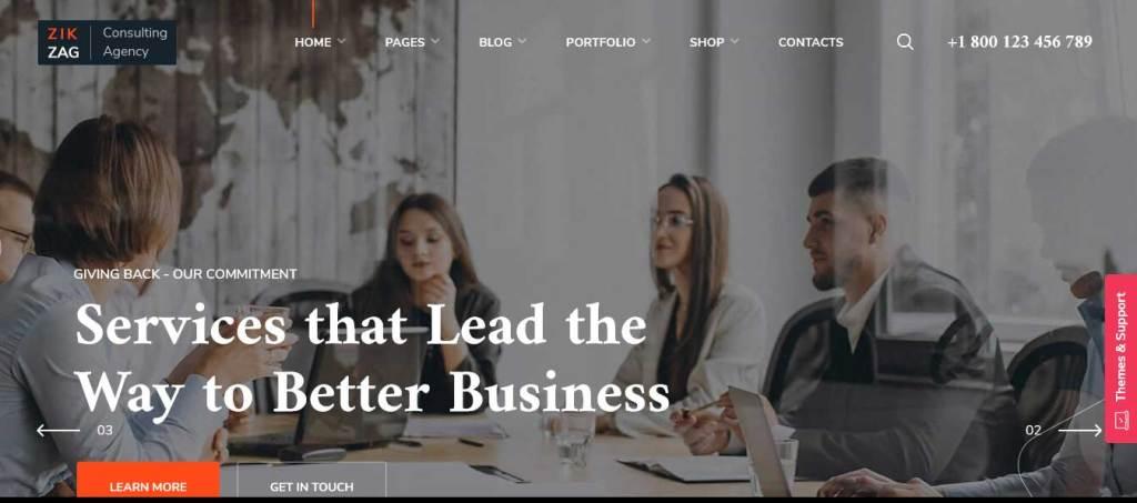 zigzag : thèmes wordpress pour agence web