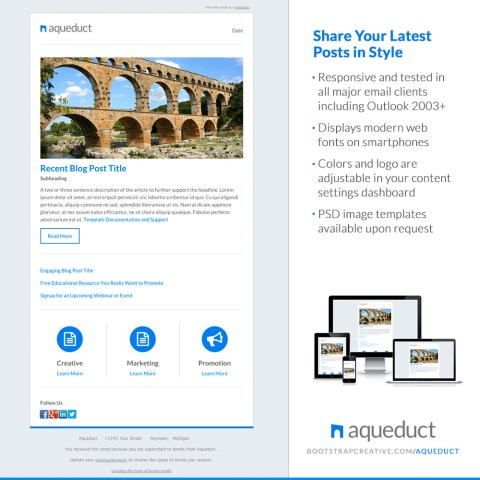 aqueduct email newsletter cover