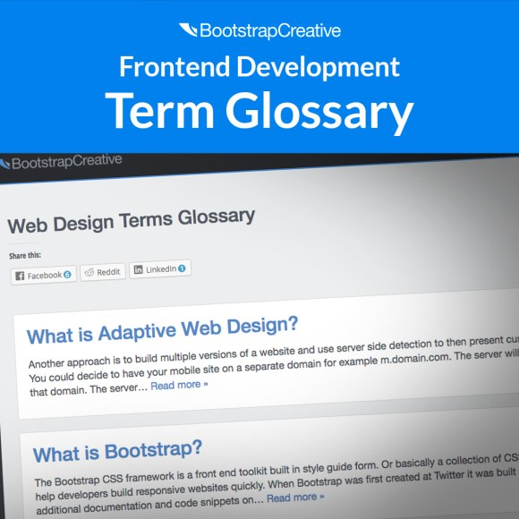 frontend development term glossary