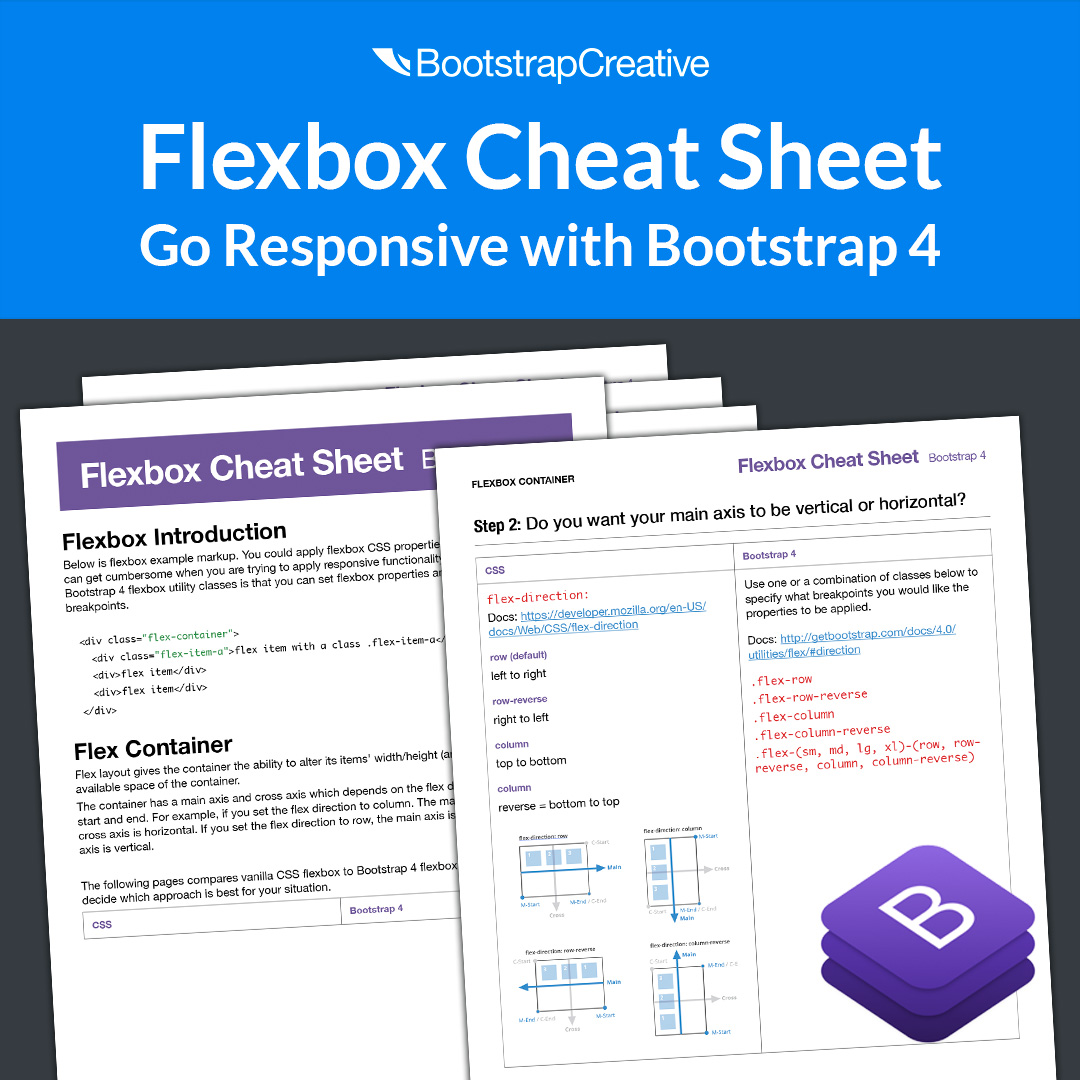 Flexbox Cheat Sheet PDF & Bootstrap 4 Flex - Free Download