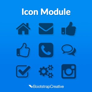 HubSpot icon module - font awesome material icons