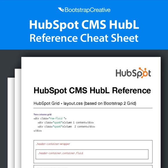 HubSpot CMS HubL Reference Cheat Sheet PDF (Free Download)