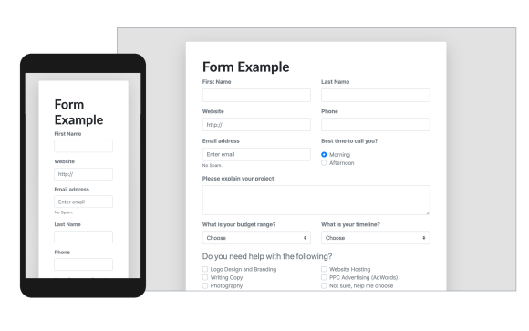 bootstrap form template