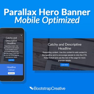 parallax hero banner mobile optimized