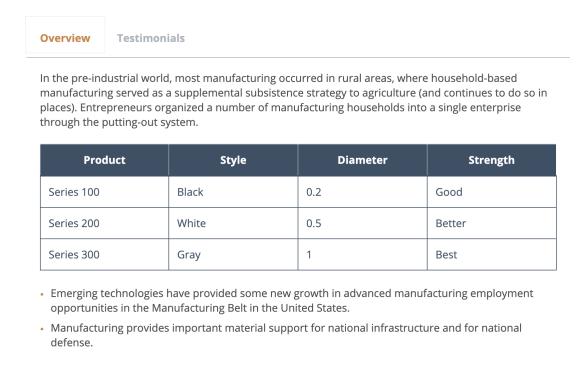 HubSpot tabs module