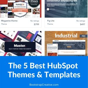 The 5 Best HubSpot Themes and Templates
