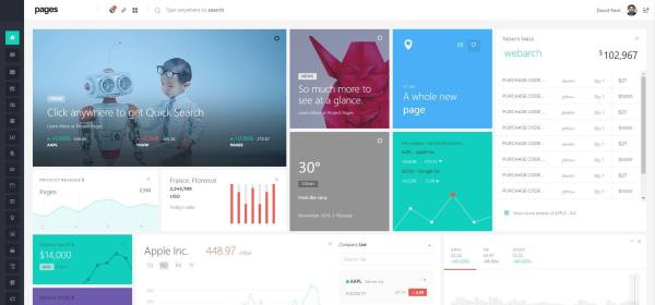Pages Admin template