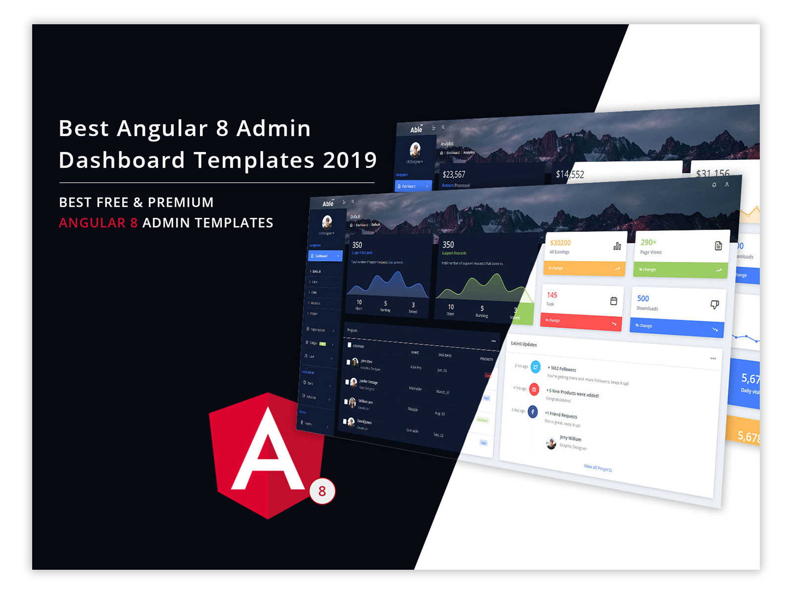 Best Angular Admin Templates