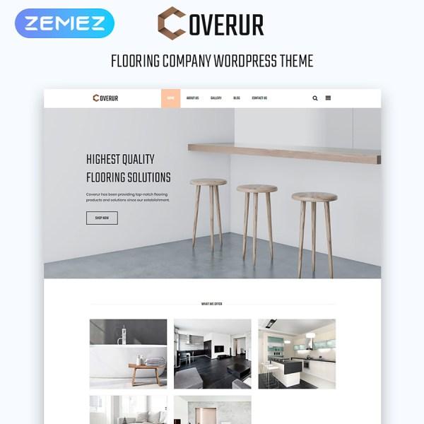 Coverur - Flooring Company Multipurpose Minimal Elementor WordPress Theme