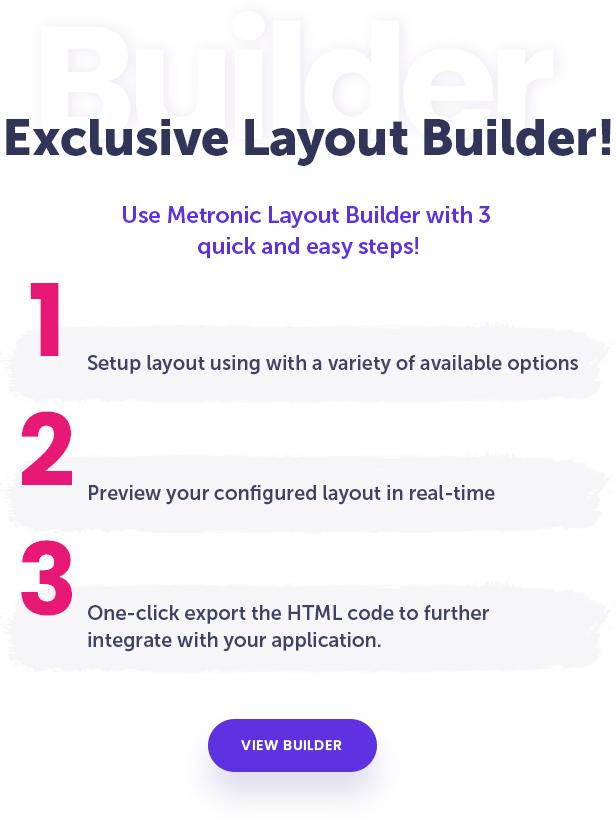 Metronic Layout Builder
