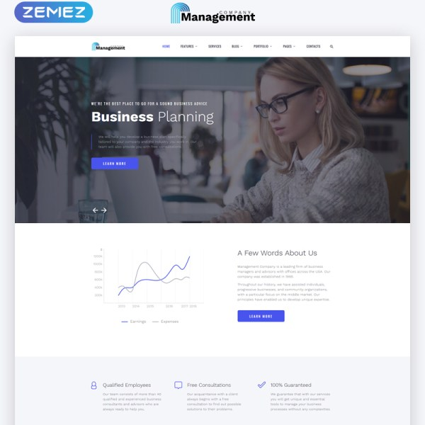 Management Bootstrap Template
