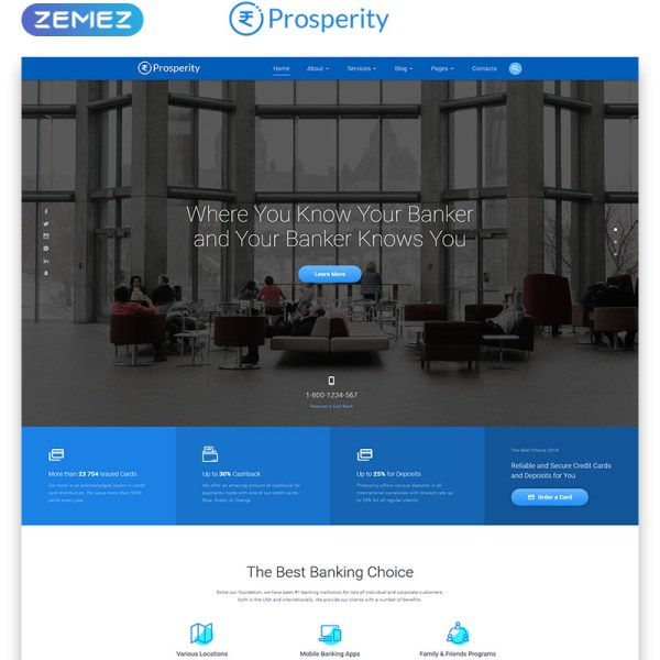 Prosperity Bootstrap Template