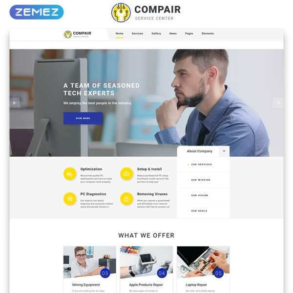Compair Bootstrap Template