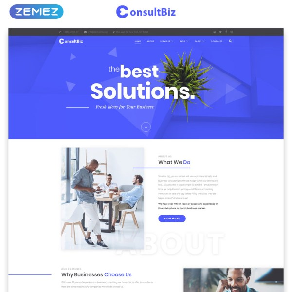 ConsultBiz Bootstrap Template