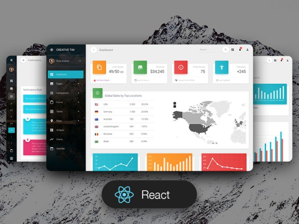 Material Dashboard Pro React Admin Template