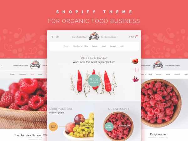 food shopify theme