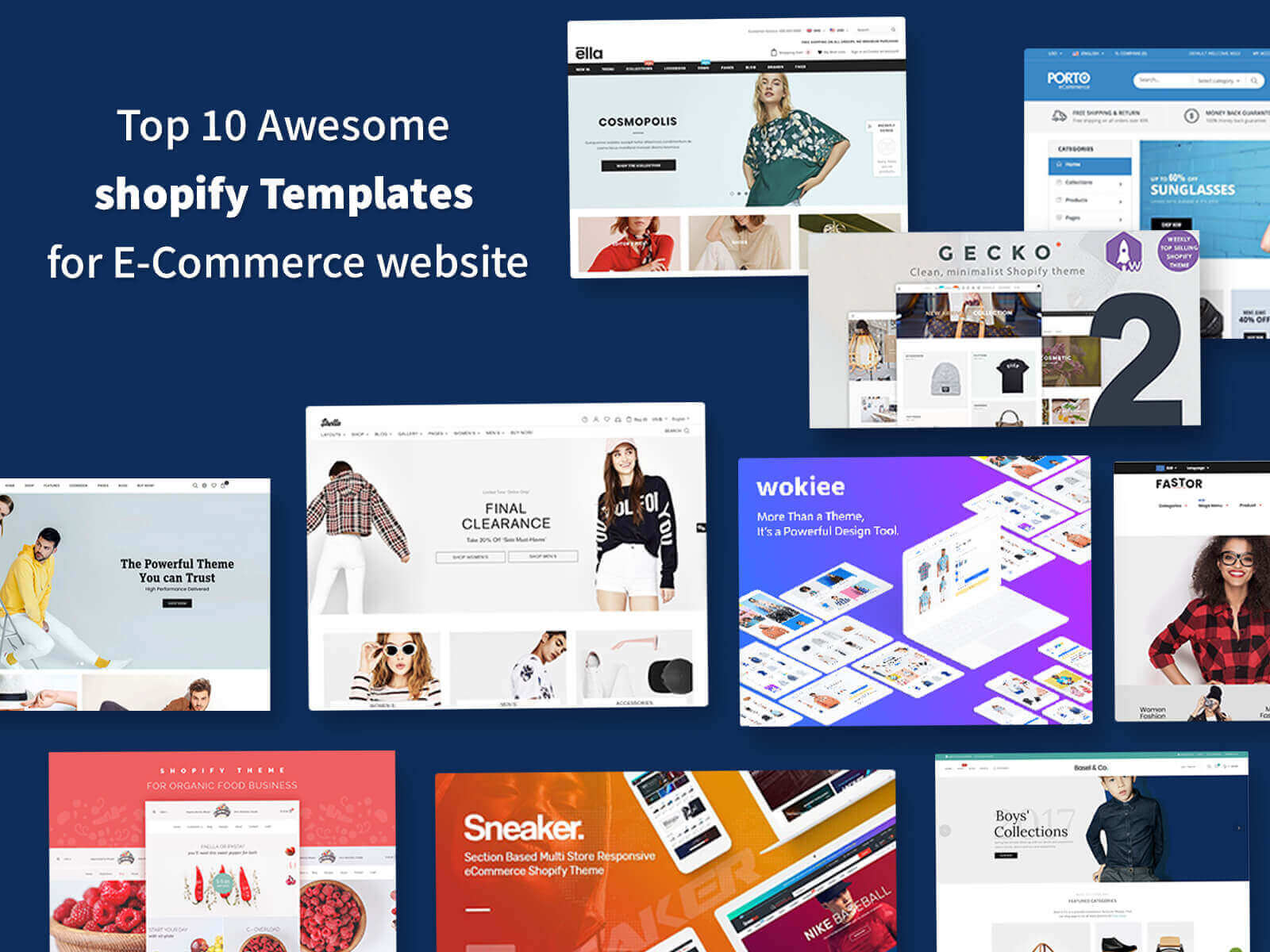Shopify Templates for E-Commerce website