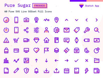 Pure Sugar Free SVG icons