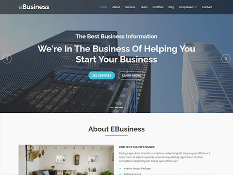 bootstrap business templates bootstrapmade