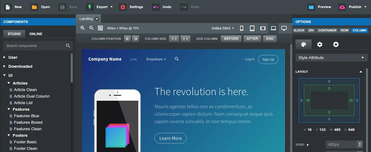 Bootstrap Studio for Mac 4.1.2 破解版 - 基于Bootstrap的网页设计应用