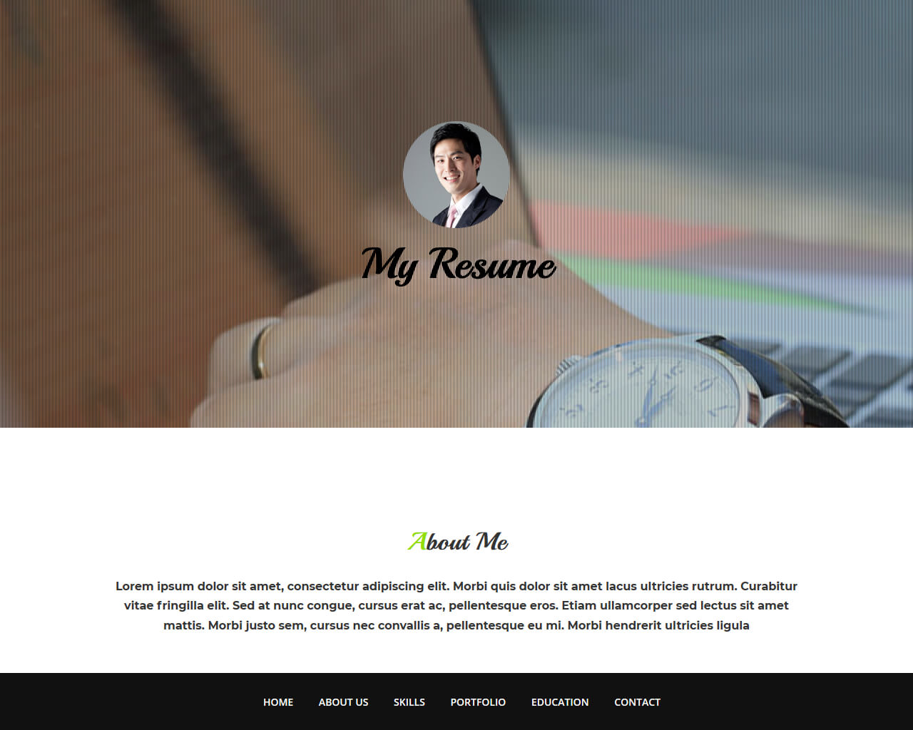 My Cv Resume Free Html Bootstrap Template My Resume Bootstraptaste