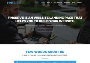 Finserve -free one page bootstrap website template for Finance business