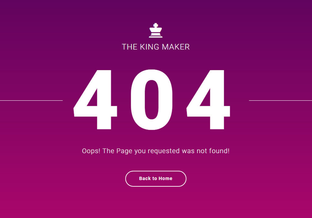 Bootstrap 404 Error Page Template Free Download