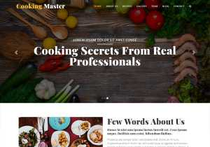Cooking class website template free download for your cooking school website
