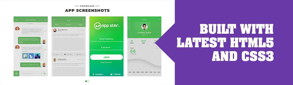 mobile app theme bootstrap
