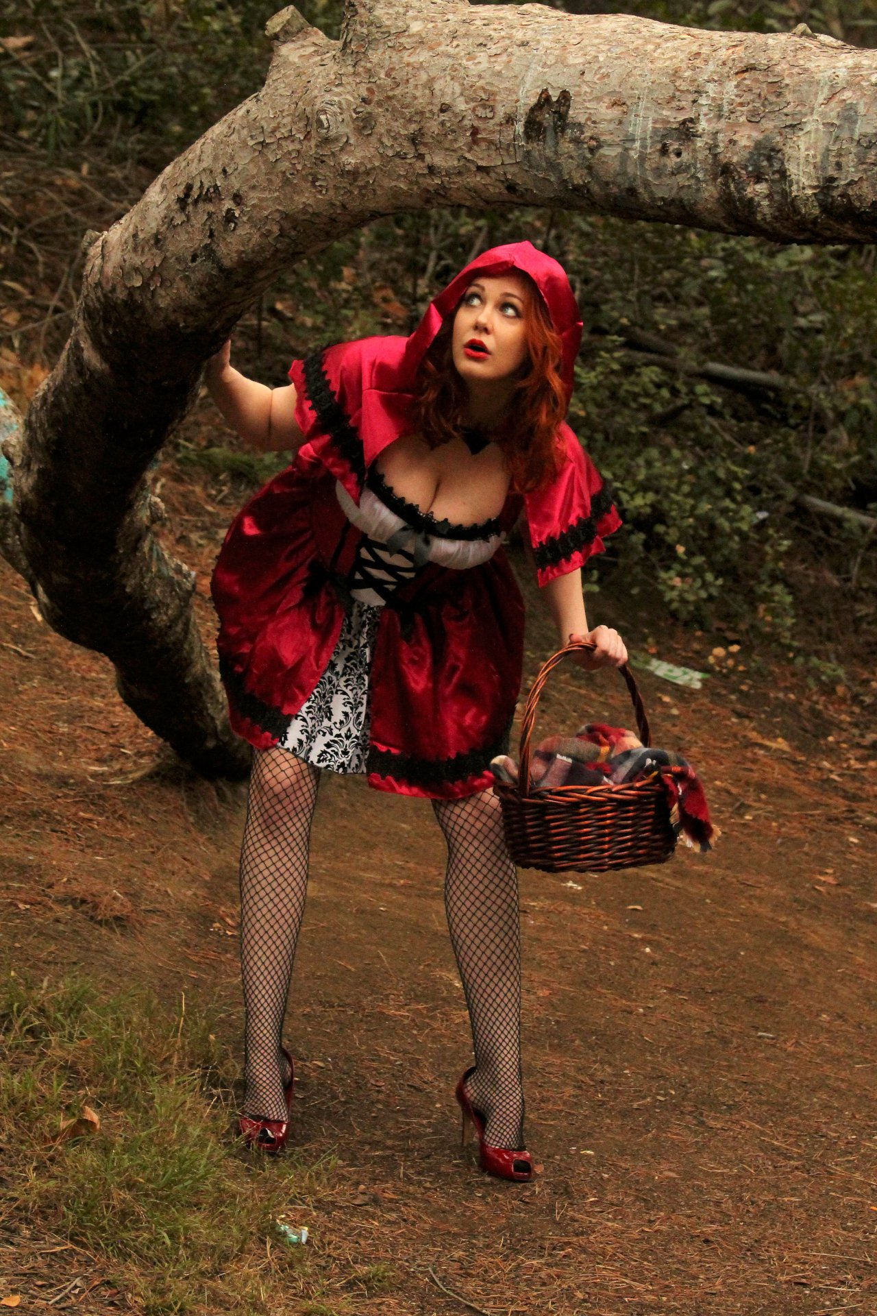 Maitland Ward Is A Red Hot Little Red Riding Hood