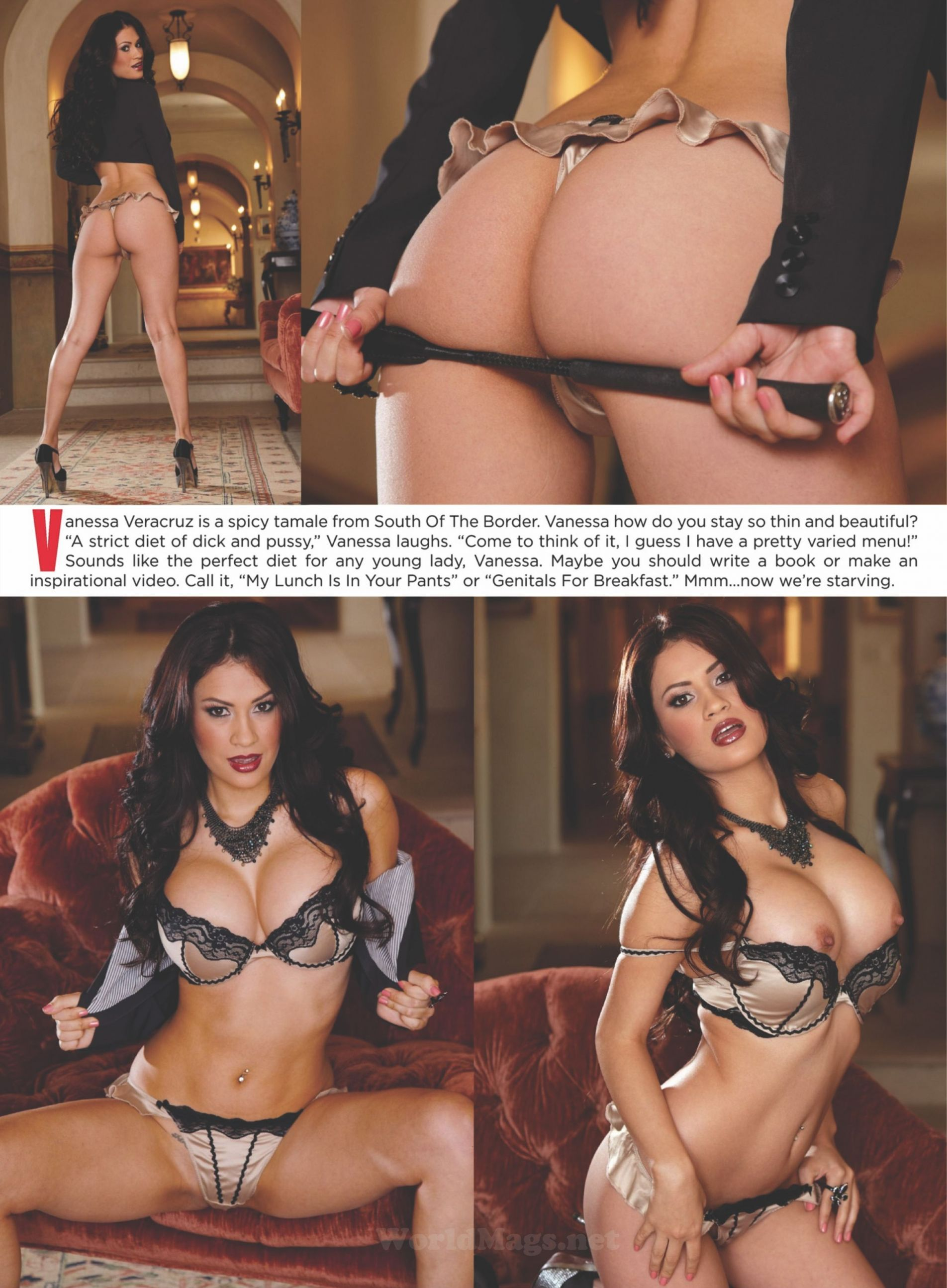 Vanessa Veracruz @MsVeracruzXXX On The Cover Of High ...