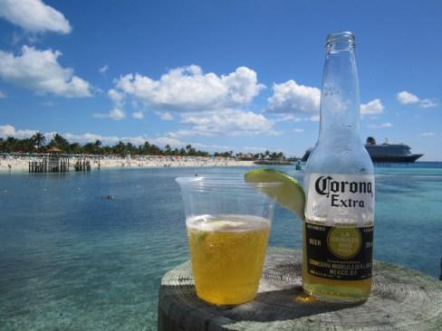 Corona Extra on Castaway Cay