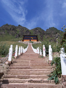 Just a few steps to the temple at Tian Chi, Xinjiang