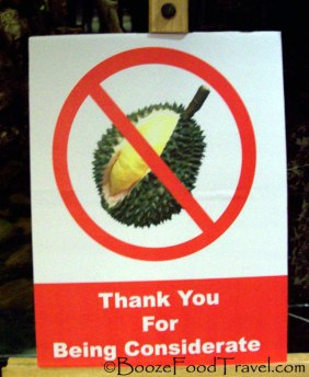 durian sign