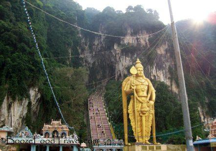 Lord Murugan at the entrance to Batu Caves, Malaysia