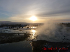 Sunset over Geysir