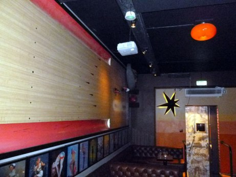 Interior of Lebowski Bar. Anyone want to go bowling after a few drinks?