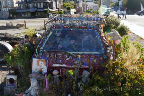 "This work of ""art"" was spotted in Sausalito"