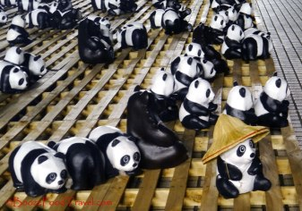 Some of the pandas even wore hats for the occasion