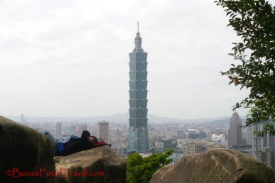Just relaxing on the rocks overlooking Tapei