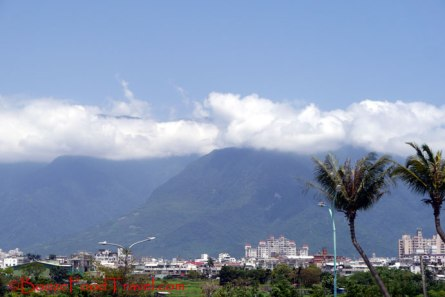 A last look at the mountains above Hualien